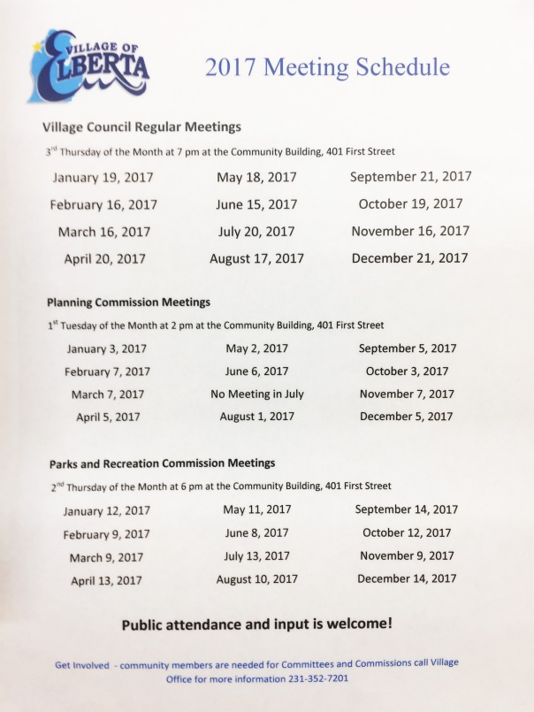 meeting-schedule-2017