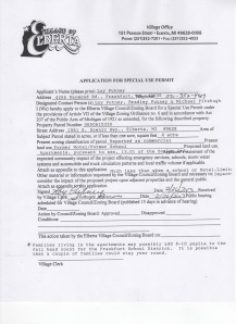 application for special use permit