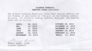 Gilmore meetings posting 2013-14