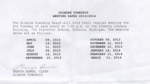 Gilmore meetings posting 2013-14