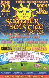 Elberta Solstice Festival 2013 Poster