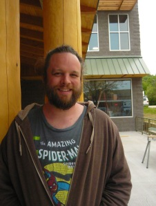 John Snyder, chef, in the beer garden of the soon to be open Stormcloud Brewing Company