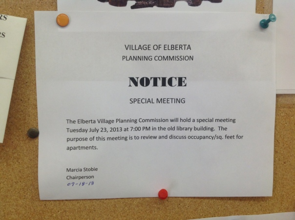 PC special meeting notice occupancy