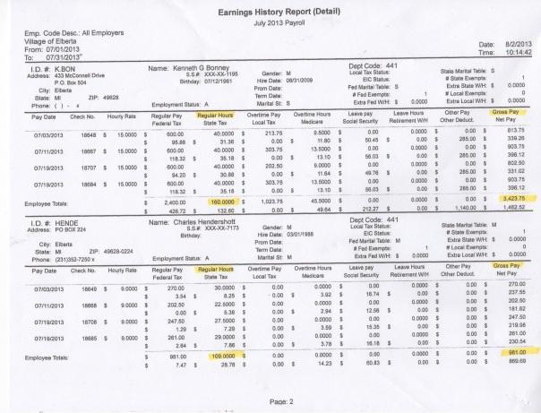July Finances page 2