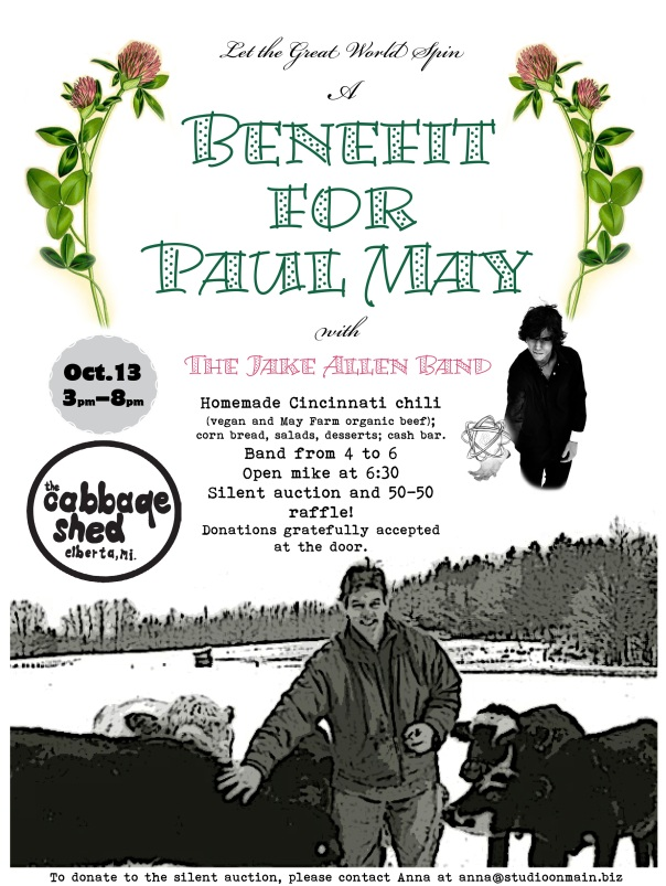 Paul May Fundraiser Poster