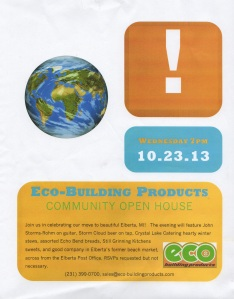 eco building products open house