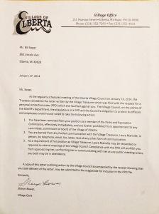 Letter from Sharyn Bower to Bill Soper