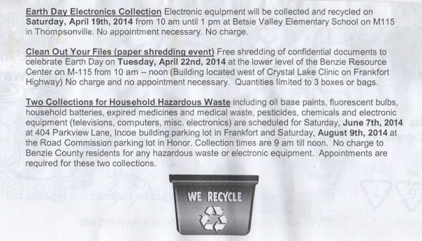Special Waste Collections 2014