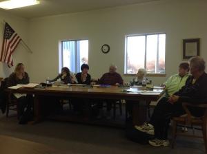 Trustees Jennifer Wilkins, Diane Jenks, Linda Manville, Ken Holmes, Joyce Gatrell; president pro tempore Robin Rommell; president Reggie Manville