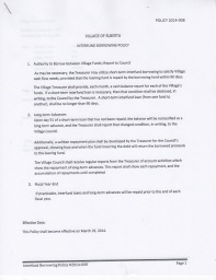 Interfund Borrowing Policy, adopted March 25, 2014, page 1