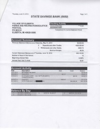 June 12 P&R/Solstice Bank Statement, page 2