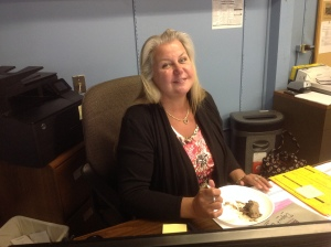 Toni Flynn on her last day in the treasurer role, June 17, 2014