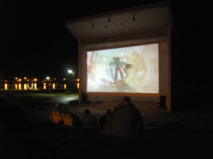 You can rent the Amphitheater for your own little Film Fest. Elberta Parks & Recreation held the first annual Mushy Peach Film Festival in 2012.