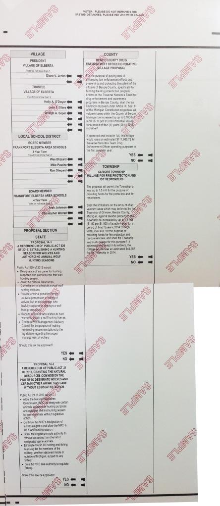 Back of 2014 ballot