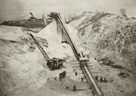Sand Products conveyor, Pigeon Hill, Muskegon