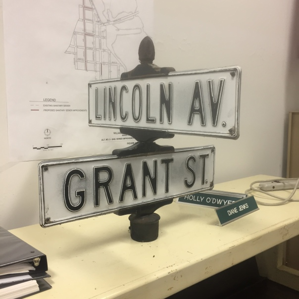Historic Elberta Street Sign for Sale to the public. Sale Starts December 3rd at the Village Office.
